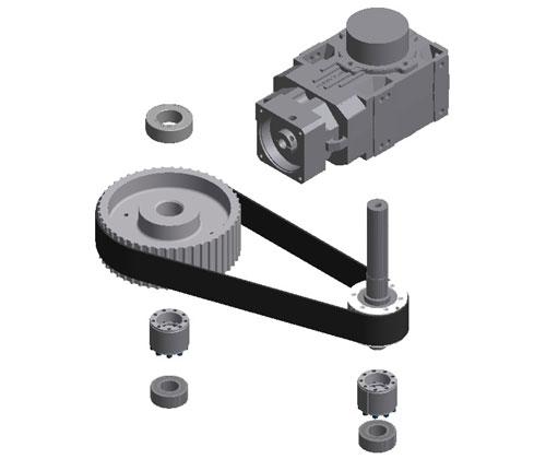 ZF010028 - Blowing wheel main motor gearbox