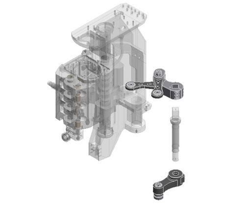 ZF010049 - Increased thickness of the mold opening/closing levers