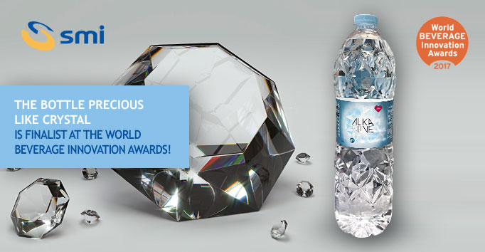 The bottle precious like crystal is finalist at the World Beverage Innovation Awards!